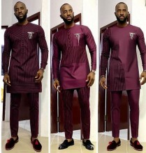 African Inspired Suits for Men - Custom Designs- Assorted Designs, Fabrics and Trimmings