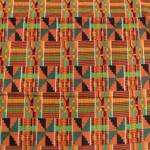 Lovely African Kente Print Fabric #2 - 6 Yards