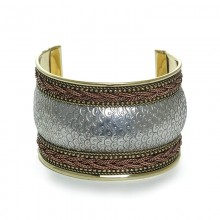 Silver/Brass/Copper 3-Tone Cuff Lovely SKU: SOA-J-B028