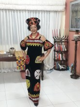 Black Cameroon's Inspired Gown - Dress