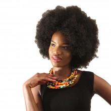 Lovely 6-Tier Kitenge Necklace. SKU: SOA-J-N138:Yellow