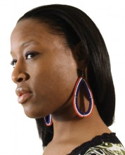 Best Maasai Beaded Earrings SKU: SOA-J-E601:Large