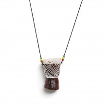 Djembe Drum Necklace: Large lOVELY SKU: SOA-J-N0015