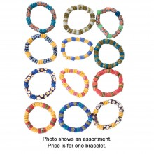 Ghana Trade Bead Bracelet (Assorted) SKU: SOA-J-B628